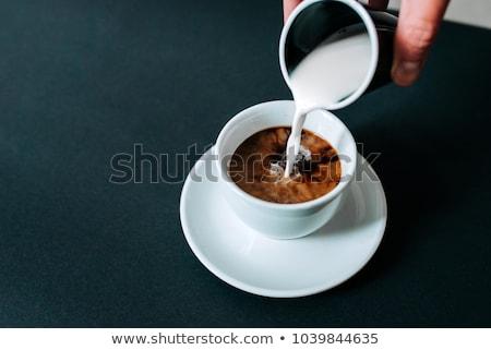 Zwarte koffie koffie textuur drinken cafe zwarte Stockfoto © antonihalim