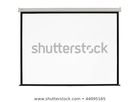 white screen projector clean background stock photo © robuart