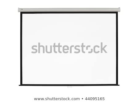 Bianco schermo proiettore clean business scuola Foto d'archivio © robuart