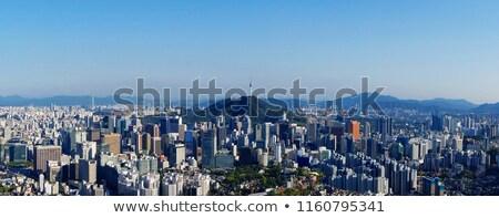 Skyline Сеул подробный иллюстрация Южная Корея здании Сток-фото © unkreatives