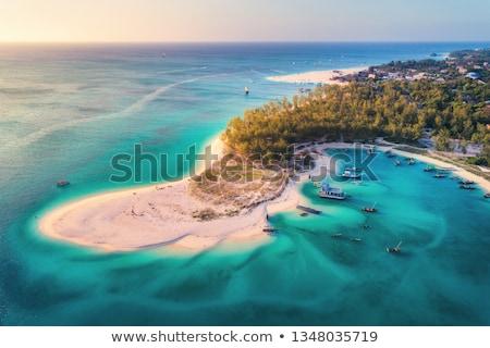 Indiano oceano crepúsculo praia Mianmar sudeste da Ásia Foto stock © mdfiles