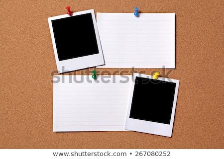 noir · clip · vieux · bois · panneau - photo stock © vichie81