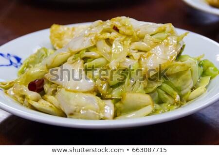 frito · repolho · batata · estoque · foto · comida - foto stock © stevanovicigor