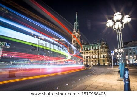 Amburgo notte cielo acqua costruzione città Foto d'archivio © meinzahn