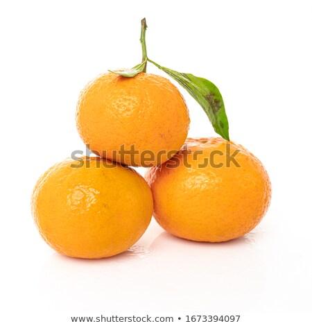 Orange mandarin fruits isolé blanche Photo stock © natika