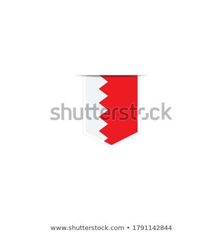 Bahreyn küçük bayrak harita seçici odak arka plan Stok fotoğraf © tashatuvango