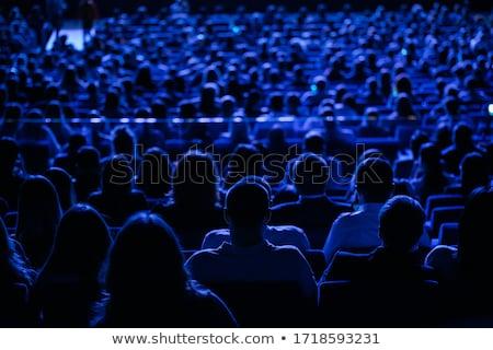 Kalabalık izleyici kalabalık adam mutlu Stok fotoğraf © blamb