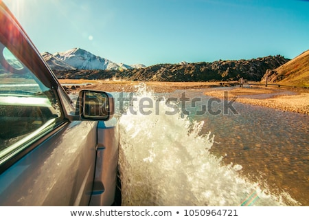 オフ · 道路 · 車 · 泥だらけの · 草 · 自然 - ストックフォト © grafvision