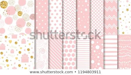 Sem costura bebê padrão menina cara aniversário Foto stock © elenapro