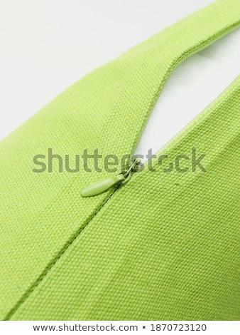 zipper clasp on decorative pillow Stock photo © PetrMalyshev