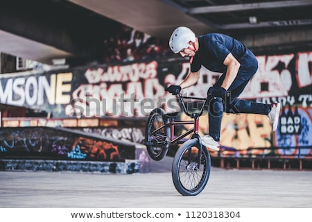 rider performs stunts  Stock photo © OleksandrO