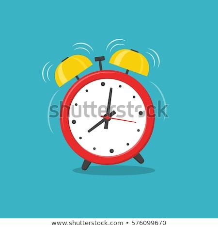 Budzik kolekcja kolor alarm zegary niebieski Zdjęcia stock © timurock