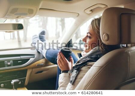 человека ног приборная панель автомобилей синий путешествия Сток-фото © bmonteny