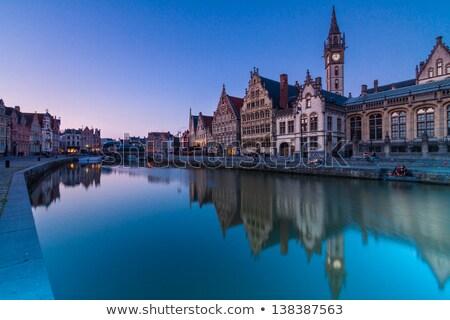 川 銀行 ベルギー ヨーロッパ 絵のように美しい 中世 ストックフォト © kasto