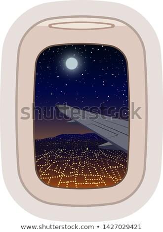 воздуха искусства аэропорту Живопись силуэта движения Сток-фото © leonido