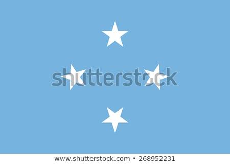 Bandeira Micronésia pólo vento branco Foto stock © creisinger
