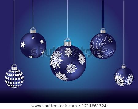 christmas · winter · knoppen · ingesteld · kerstmis · sneeuwpop - stockfoto © limbi007
