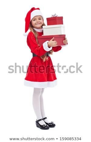 少女 · プレゼント · 赤 · 帽子 - ストックフォト © peterpolak