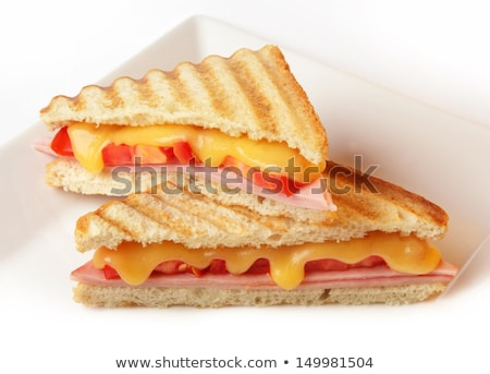 Stock photo: healthy ham cheese and tomato sandwich