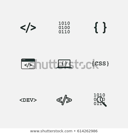 vektor · css · ikonok · számítógép · háttér · narancs - stock fotó © nickylarson974
