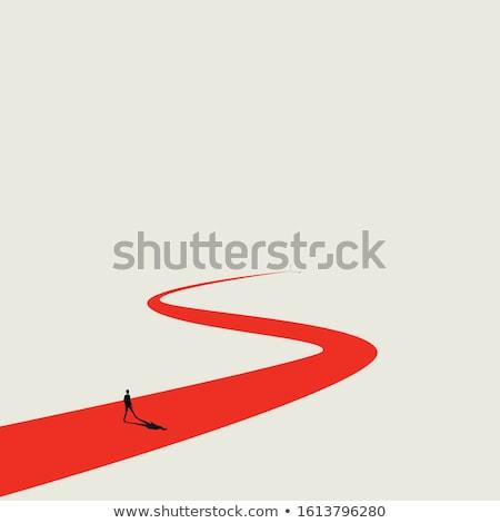 Işadamı yol işareti iş adam mutlu arka plan Stok fotoğraf © ambro