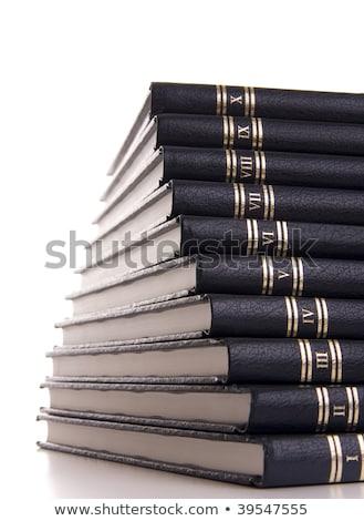 аналогичный книгах белый изолированный книга Сток-фото © Valeriy