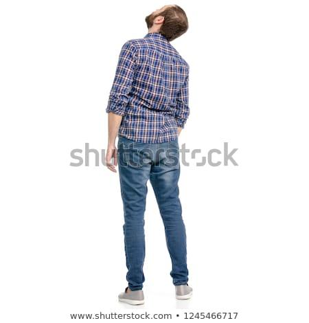 Portret biznesmen odizolowany biały człowiek Zdjęcia stock © deandrobot