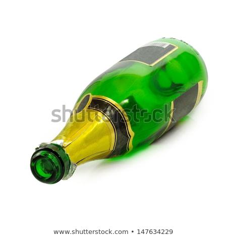 champanhe · garrafa · vazio · vidro · branco · festa - foto stock © Rob_Stark