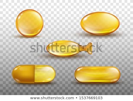 omega3 · halolaj · kapszulák · áramló · ki · üveg - stock fotó © kubais