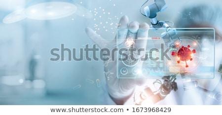 kimyasal · bilimsel · laboratuvar · mavi · cam · şişeler - stok fotoğraf © pedrosala