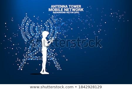torre · tecnologia · ícone · vetor · imagem · lata - foto stock © Dxinerz