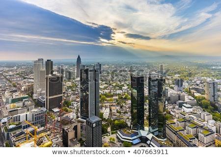 Frankfurt délelőtt Maine városkép napos idő Németország Stock fotó © AndreyKr