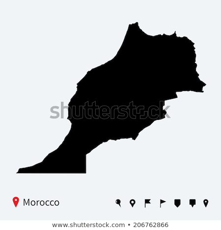 high detailed vector map of morocco with navigation pins stock photo © tkacchuk
