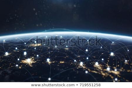 tierra · negocios · mundo · seguridad · palma · ciencia - foto stock © sdecoret