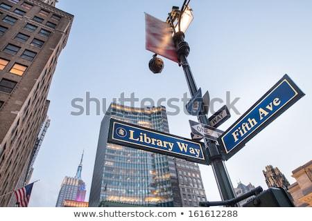 библиотека · способом · знак · общественного · законченный · старые - Сток-фото © rmbarricarte