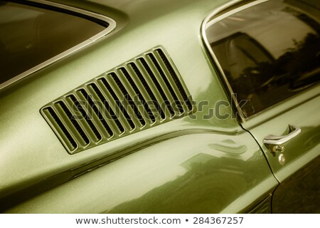 moderne · amerikaanse · muscle · car · groot · banden · chroom - stockfoto © jeff_hobrath