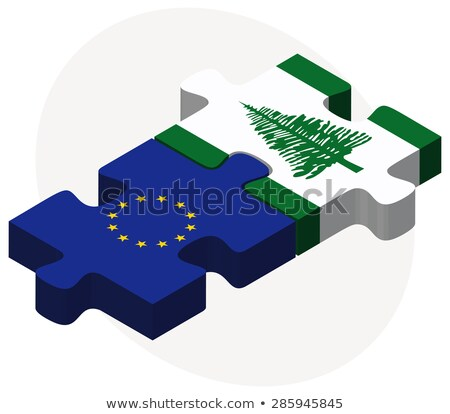 European Union and Norfolk Island Flags in puzzle Stock photo © Istanbul2009