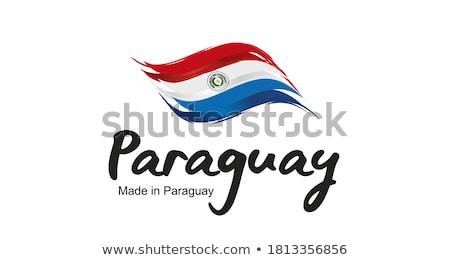 Flag label of paraguay Stock photo © MikhailMishchenko