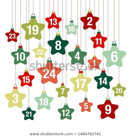 Numeri piazza vettore verde icona design Foto d'archivio © rizwanali3d