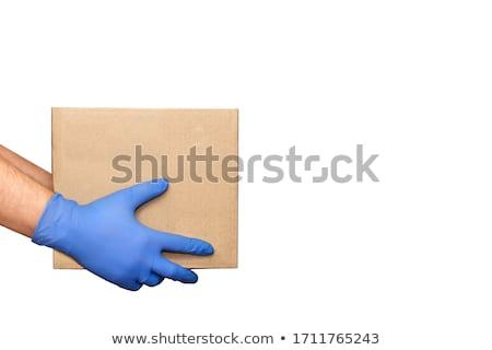 hombre · de · negocios · fuera · mano · espacio · de · la · copia · aislado - foto stock © fuzzbones0