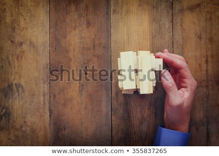 wealth   puzzle on the place of missing pieces stock photo © tashatuvango