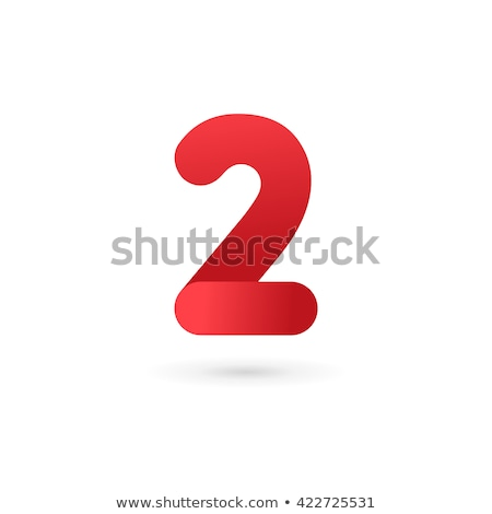 2 Number Vector Red Web Icon Stock photo © rizwanali3d