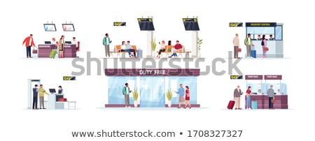 Zakupy bagaż ilustracja biały moda tle Zdjęcia stock © get4net