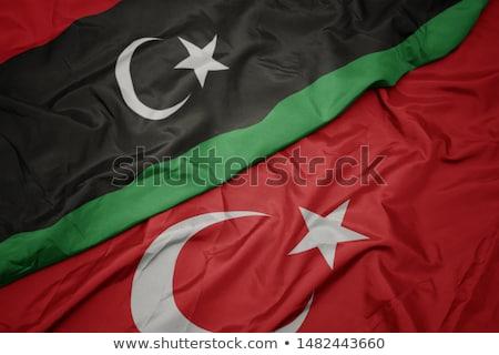 Турция Ливия флагами головоломки изолированный белый Сток-фото © Istanbul2009