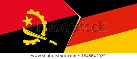 Германия Ангола флагами головоломки изолированный белый Сток-фото © Istanbul2009