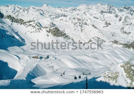 合格 表示 雲 自然 雪 山 ストックフォト © Antonio-S