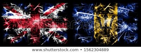 Reino Unido Barbados bandeiras quebra-cabeça isolado branco Foto stock © Istanbul2009