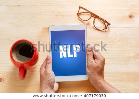Számítástechnika szó szöveg informatika tanul kommunikáció Stock fotó © stuartmiles