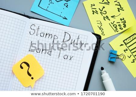 Adózás bélyeg fehér papír posta tinta Stock fotó © fuzzbones0