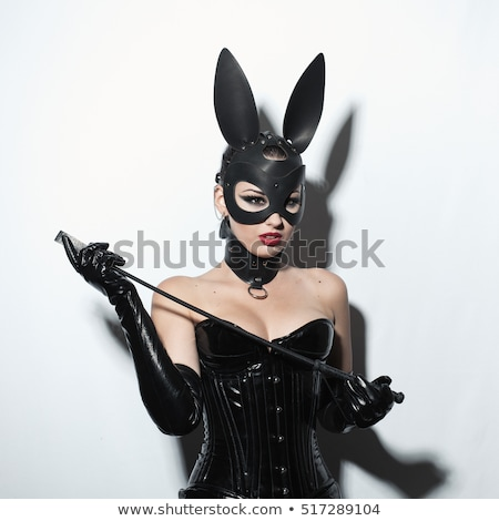 fetish dominatrix girl in leather corset stock photo © elisanth